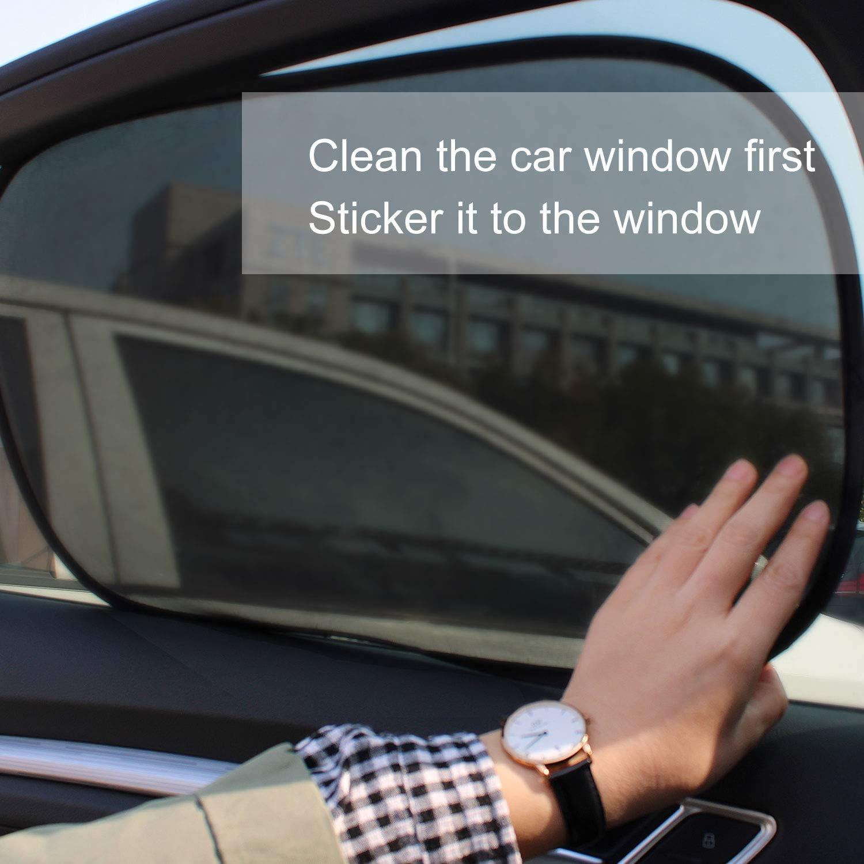 Sonnenblende Auto Sonnenblende f/ür Seitenfenster Auto Sonnenschutz Baby 2er Set Sonnenschutz Auto Sonnenschutz Auto Baby mit UV Schutz Schwarz