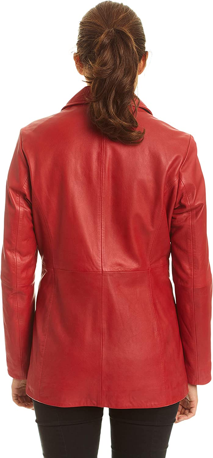 Excelled Leather Womens Leather Button Front Hipster