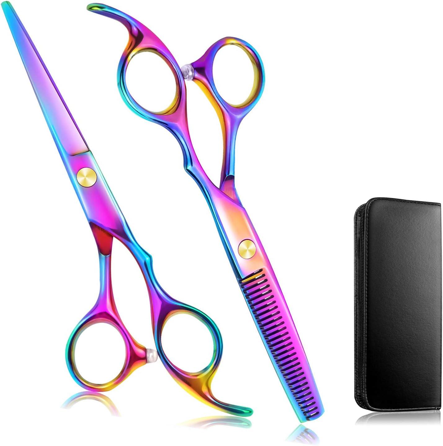 Set 2 tijeras de peluquería 6.7 acero inox multicolor