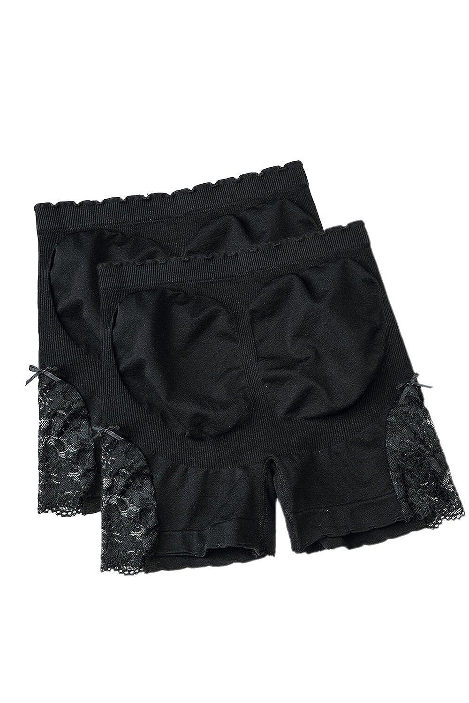Simgahuva Women Lace Slip Shorts Under Skirt Yoga Bike Active Short Leggings 3 Pack CASmQD220-Beige2P-F