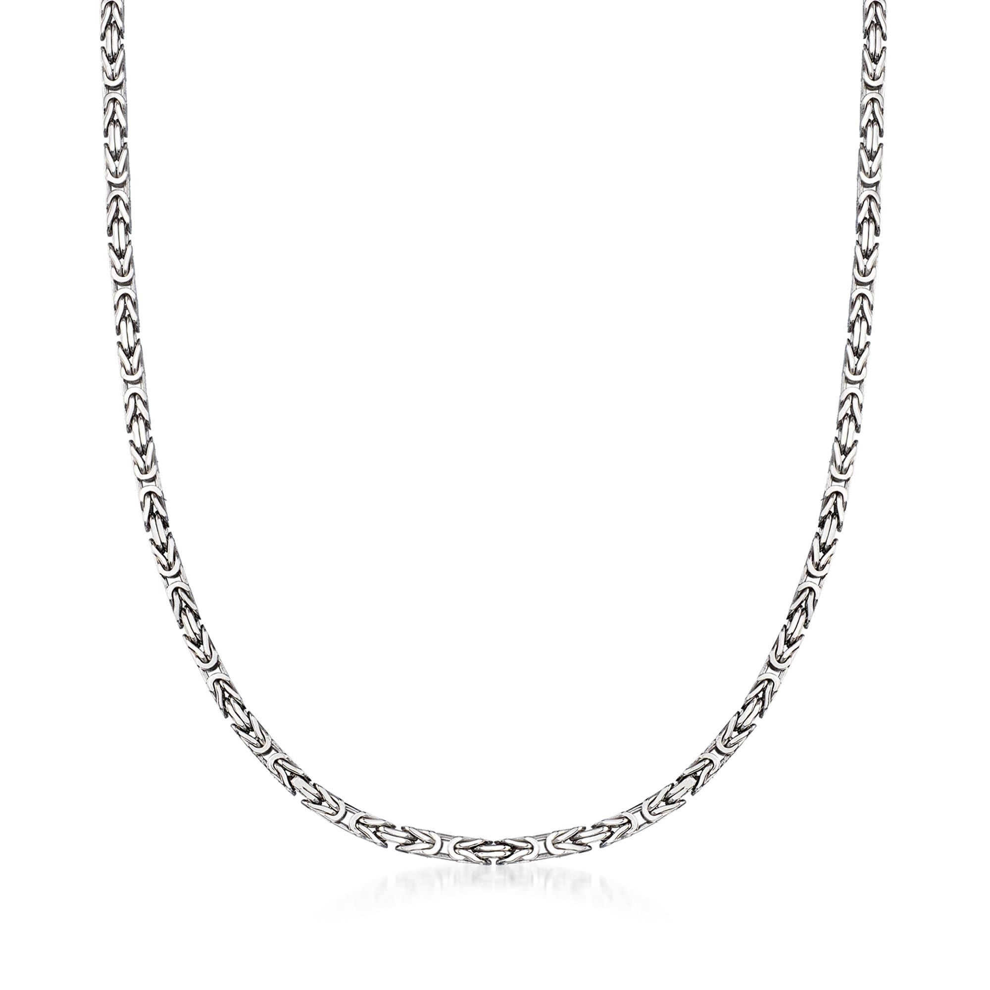 Ross-Simons 2.3mm Sterling Silver Byzantine Necklace
