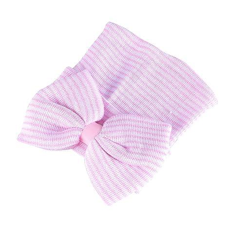 TENDYCOCO Sombrero de Bebé con Lazo Grande Gorro de Crochet para ...