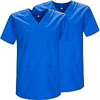 MISEMIYA - Pack*2 - Casaca Sanitarios Unisex Uniformes Sanitarios Cuello Pico Mangas Cortas Uniformes Laboratorios - Ref…