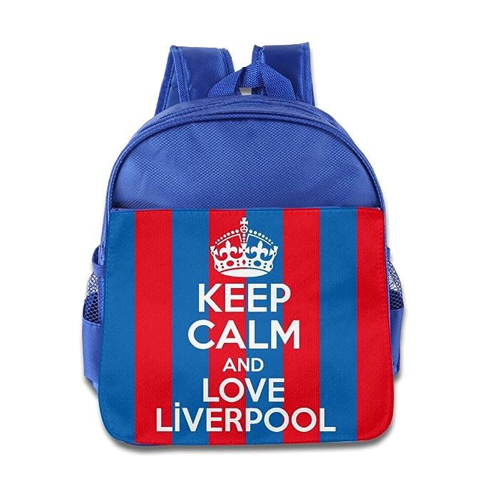 aac6dc6b99 Para bebé niño Kid Keep Calm And Love Liverpool escuela bolsa mochila   Amazon.es  Ropa y accesorios