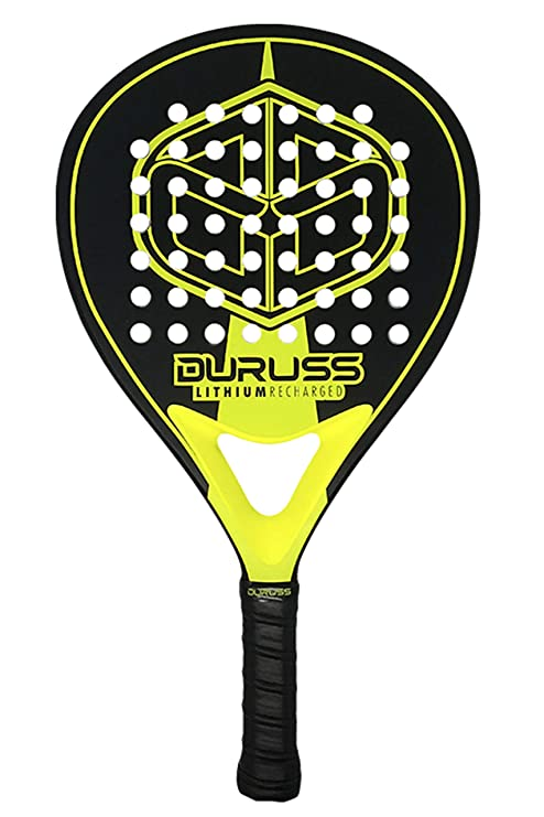Duruss Avanzado Lithium Recharged Pala de Pádel, Adultos Unisex, Black/Yellow