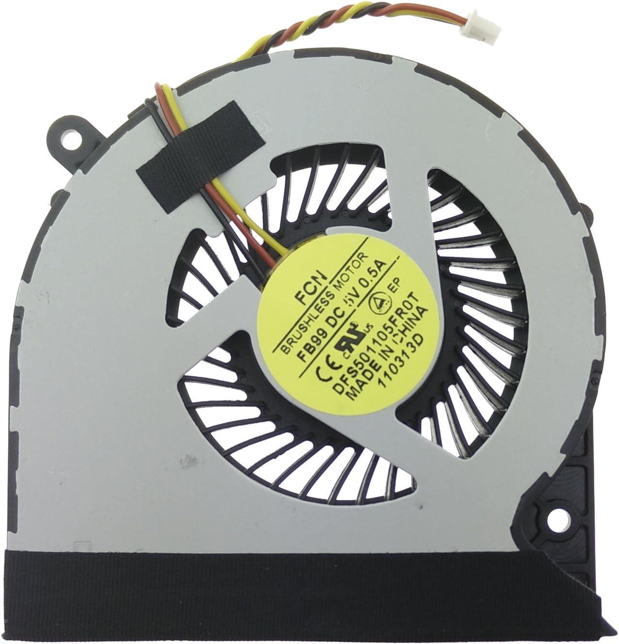 Ventilador Toshiba - H000050270 compatible con Toshiba Satellite C850   C855   C875   L850   L855   L870   L955 y part number DFS501105FR
