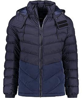 b29b73a39ad Amazon.com: Hugo Boss Mens Jacket ONEK 50393939 Size 50 Black: HUGO ...