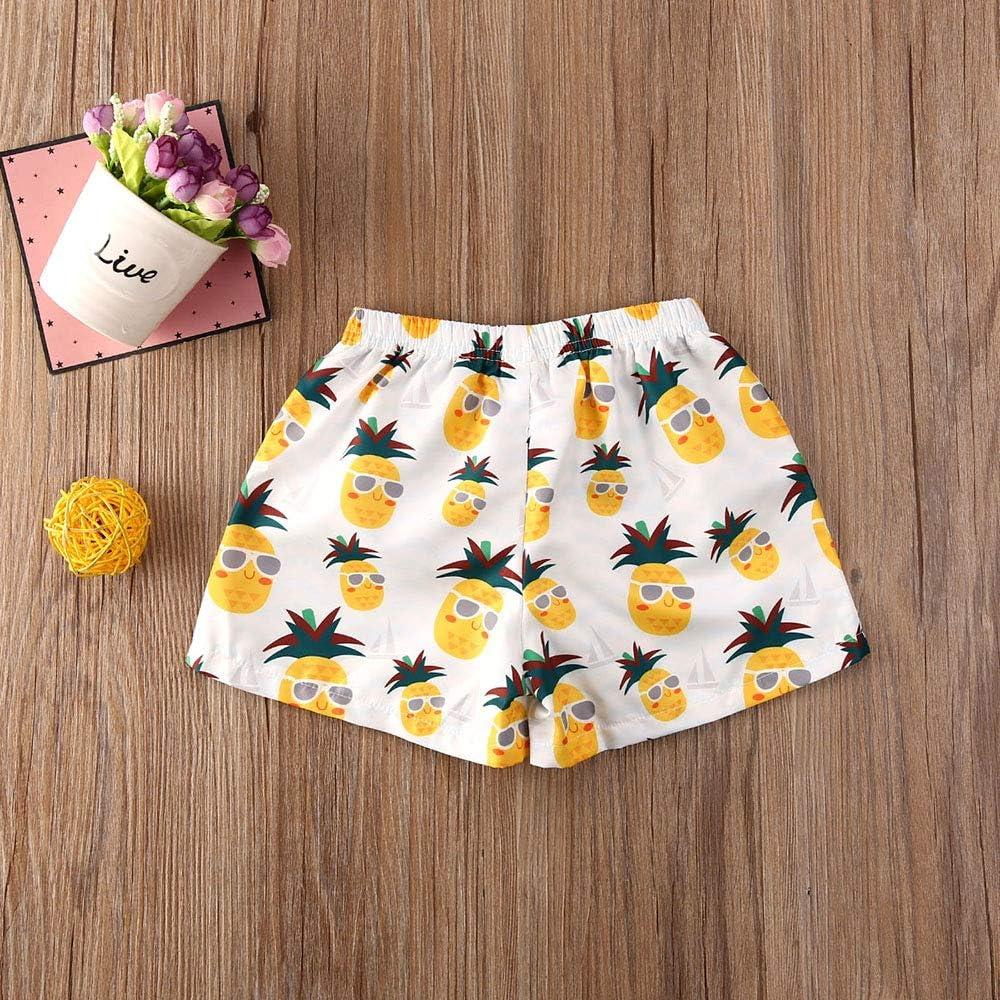 LUCKHA Toddler Baby Boy Summer Swim Short Trunks Funny Fruit Print Beach Short Swimsuit Bathing Clothes