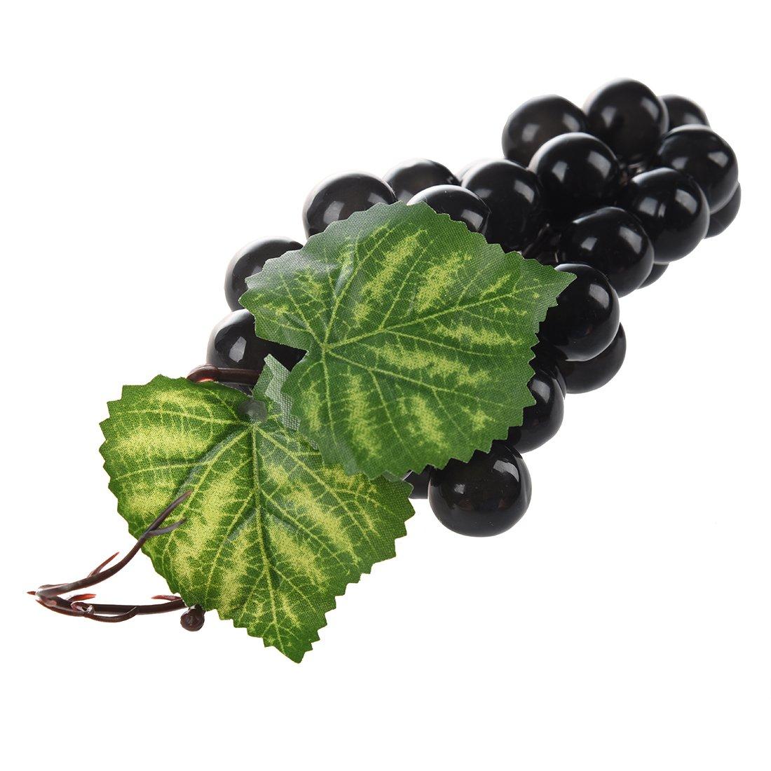 CUHAWUDBA Weich Kunststoff Simulation Traubenfruchtdekoration Weintrauben Obst Hause Dekoration