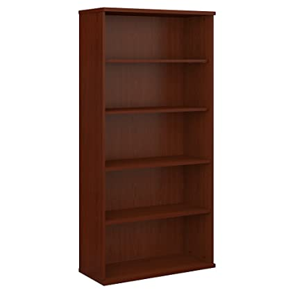 bush business furniture series c 36w 5 shelf bookcase in mahogany - Mahogany Bookshelves