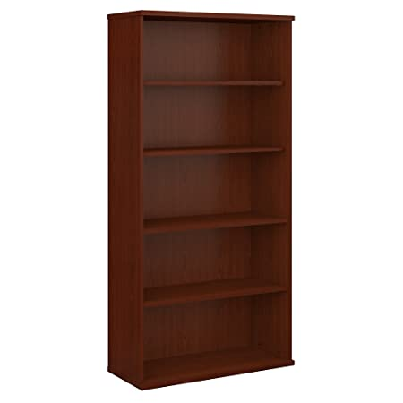 Bush Business Furniture Series C 36W 5 Shelf Bookcase in Mahogany
