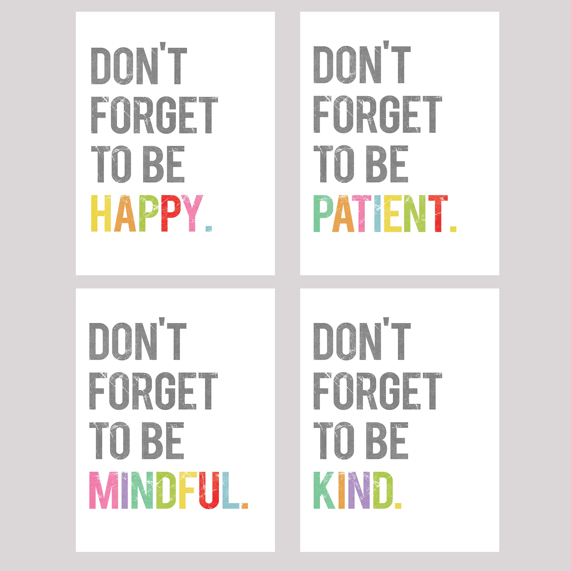 Dont Forget Collection Of Four 11x14 Wall Art Prints Typography Nursery Decor