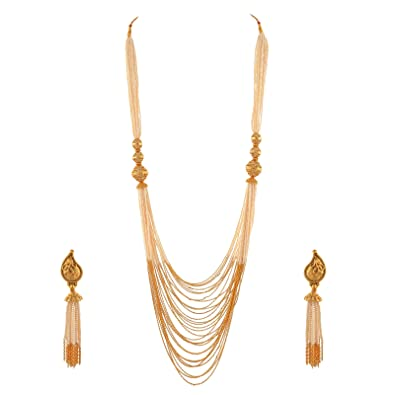 603ecb72a216a Buy Zephyrr Jewellery Traditional Multistrand long Necklace Pearl ...