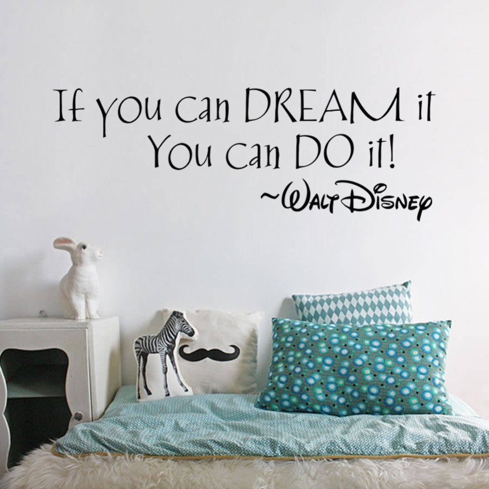 FairyTeller If You Can Dream It You Can Do It Inspiring Quotes Wall Stickers Home Art Decor Decal Mural Wall Stickers For Kids Rooms SYNCHKG096298