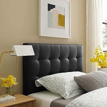 Amazon.com: Modway Lily Queen cabecero de cama de lino ...