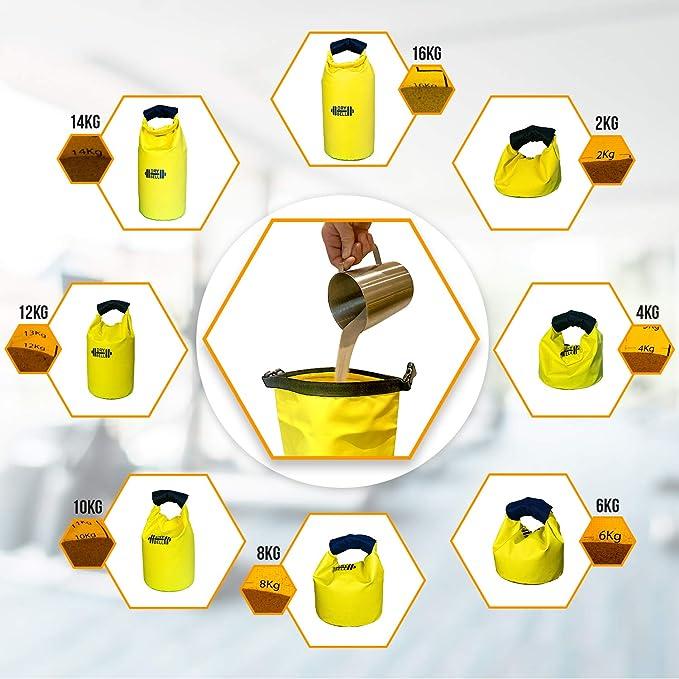 Mokan Extra Comfort Double Wrap Drybell Griff f/ür tragbare Dry Bag Kettlebell Sand Wasser Gewicht