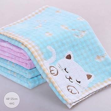 ZLR Toalla pequeña de algodón puro Toalla lavable de dibujos animados para niños Toalla no retorcida