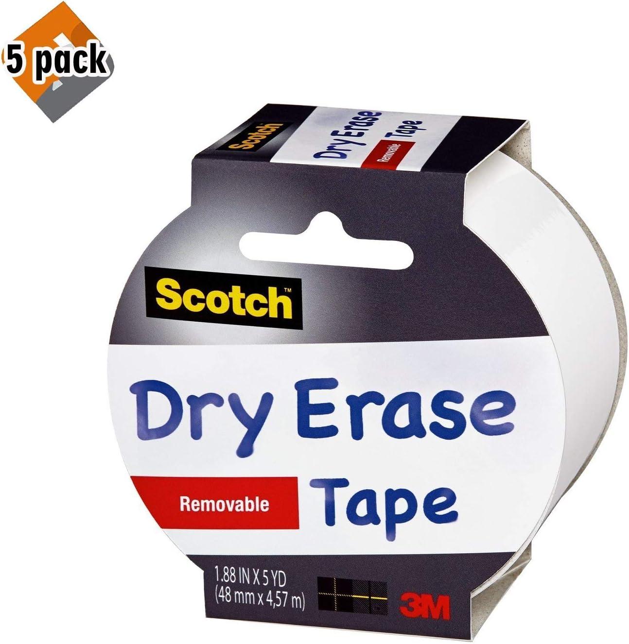 White 1.88-Inch x 5-Yard 2-PACK Scotch Chalkboard Tape D4CC7