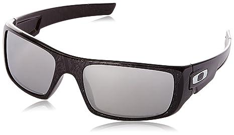 Oakley - Gafas de sol Rectangulares Crankshaft para hombre, Black Silver