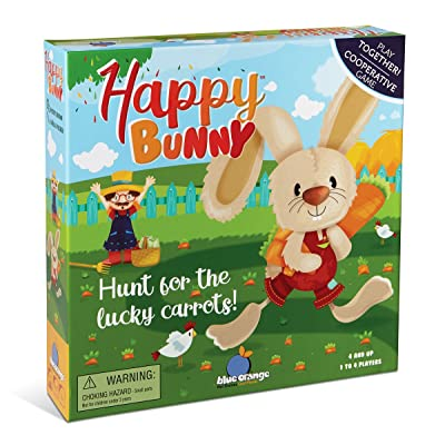 Blue Orange Happy Bunny Cooperative Kids Game: Toys & Games