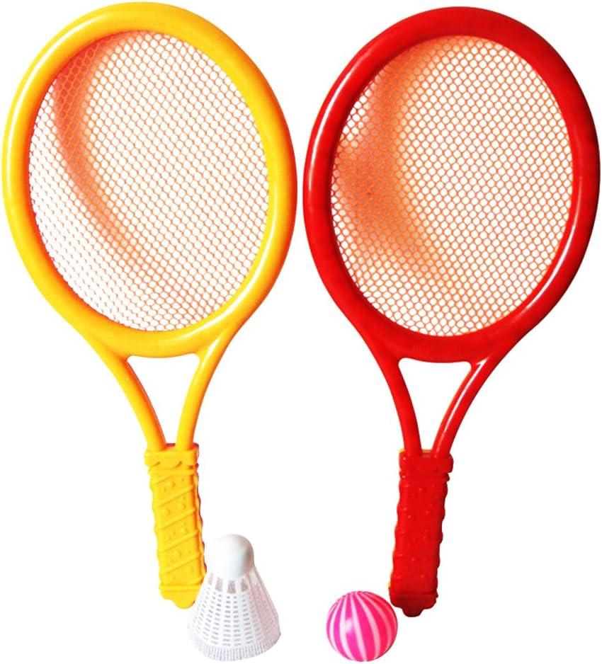 VORCOOL Par de bádminton Tennis Set Raqueta de bádminton plástico con Bolas Juguete Juego