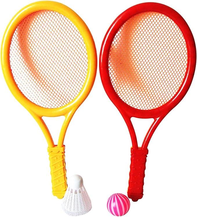 LIOOBO Juego de Tenis de plástico con 2 Raquetas y Pelotas de ...
