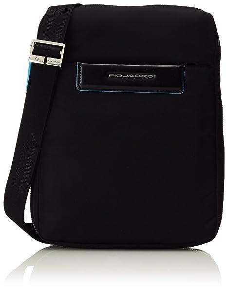 nuevo producto 3e659 72e3b Piquadro Bolso Bandolera, Negro (Negro) - CA3228CE/N: Amazon ...