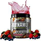 Protein Dynamix Dynamo Extreme Pre-Workout powder formula for extreme mental focus, energy and huge muscle pumps **NEW IMPROVED FLAVOURS!** (Red Berry Blitz, 225g)