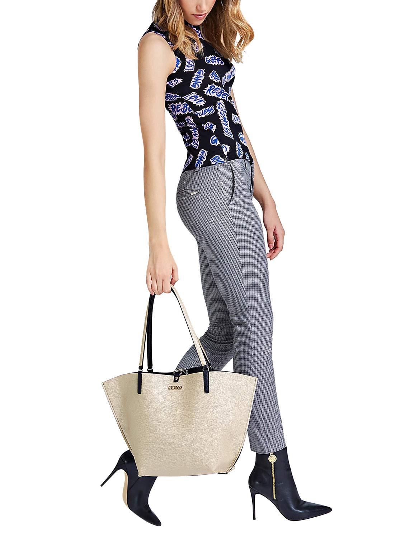 Guess Alby Pochette da Donna Grande Shopping Tote Handbag in Nero
