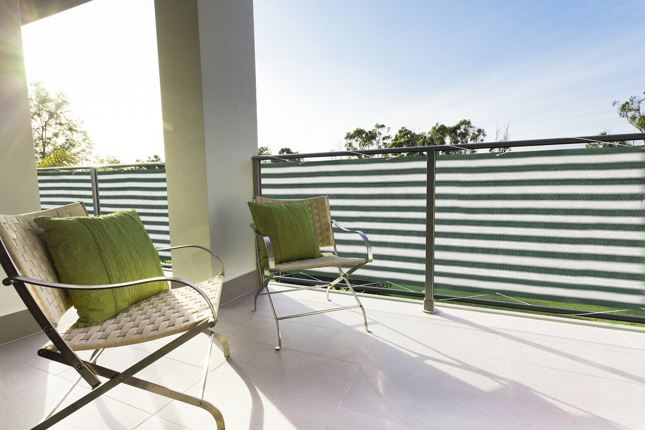Floracord Balcony Screen HDPE 0.90x 5m Green/White / Multicoloured 12-90-50-13