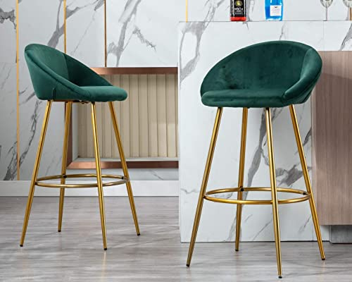 CIMOTA Velvet Bar Stools Set of 2
