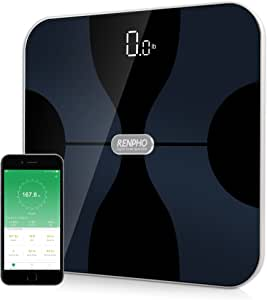 RENPHO Bluetooth Body Fat Scale, Smart Wireless Digital Bathroom Weight Scale Body Composition Monitor Health Analyzer with Smartphone APP for Body Weight, Fat, Water, BMI, BMR, Muscle Mass