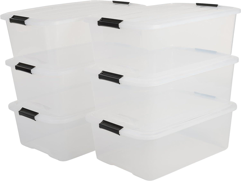 IRIS Top Box TB-30 Lote de 6 Cajas apilables de Almacenamiento ...