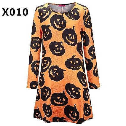 Mjia Cloth Ropa de Halloween, Vestidos de Mujer, Calaveras de ...