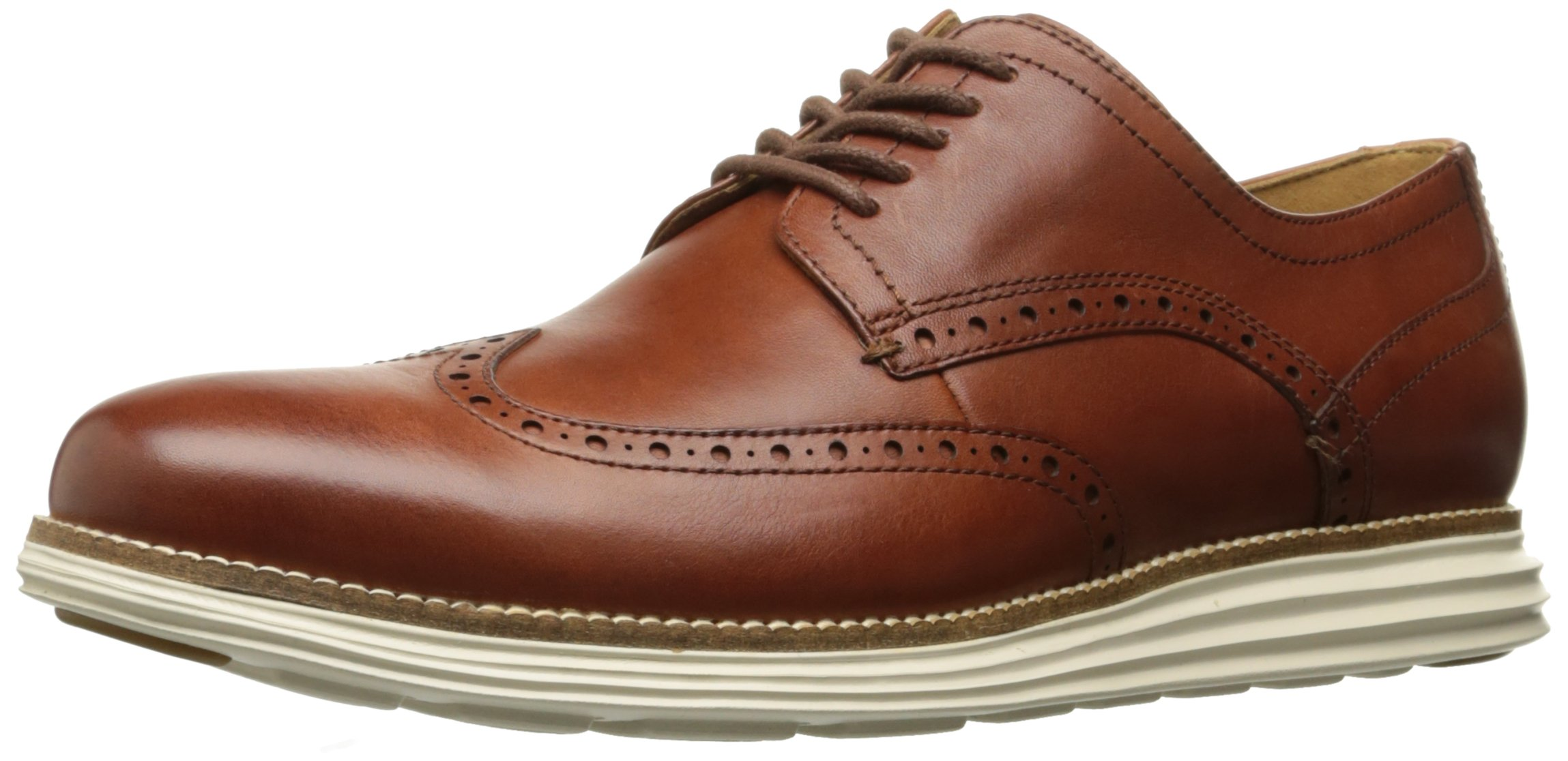 Cole Haan Men's Original Grand Shortwing, Woodbury Leather/Ivory, 12 Medium US
