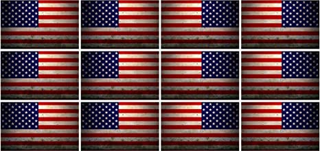 3a47af50629 Image Unavailable. Image not available for. Color  12 - 2 quot  American  grunge Flag US USA United States Hard Hat Helmet Sticker RH