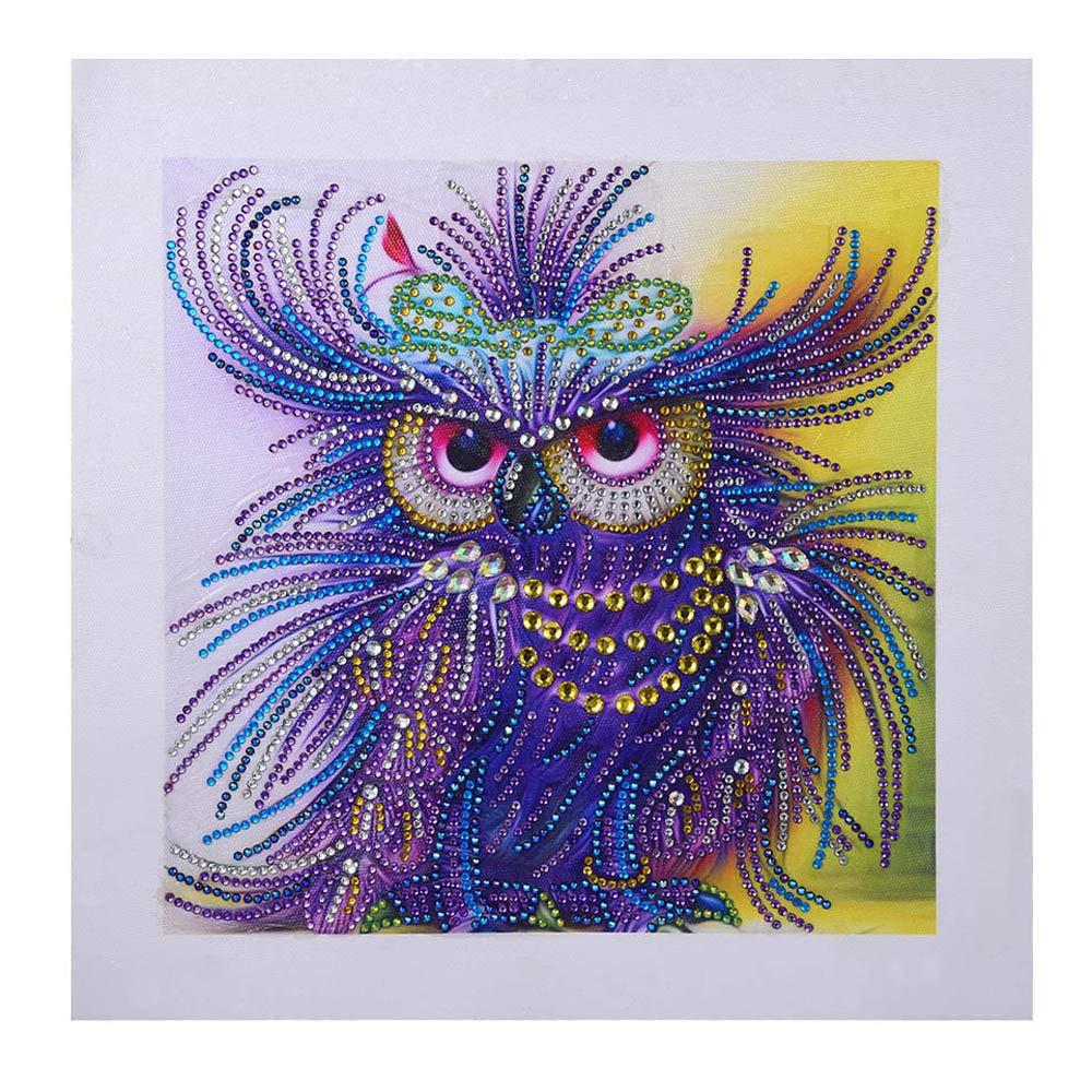 Onefa 5D DIY Diamond Paintings Diamond Cross -Embroidered Diamond,A Lion,Leader,Gifts for Man,30x30CM