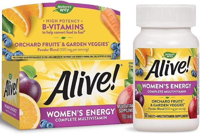 Alive! Women's Energy Nature's Way 50 Tabs