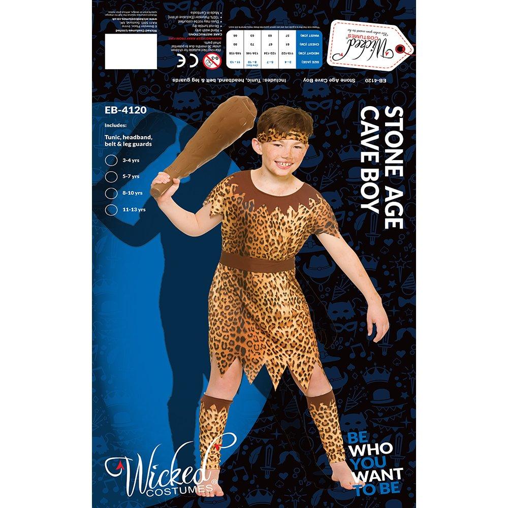 Kids Boys Stone Age Cave Boy Medium 5-7 years: Amazon.es ...
