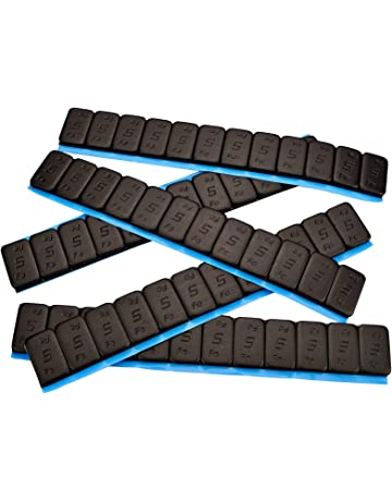 7 Contrapesos Negro 12x5g Pesos Adhesivos Pesos 60 G con Rebordes Cincado & Plastificado 0,