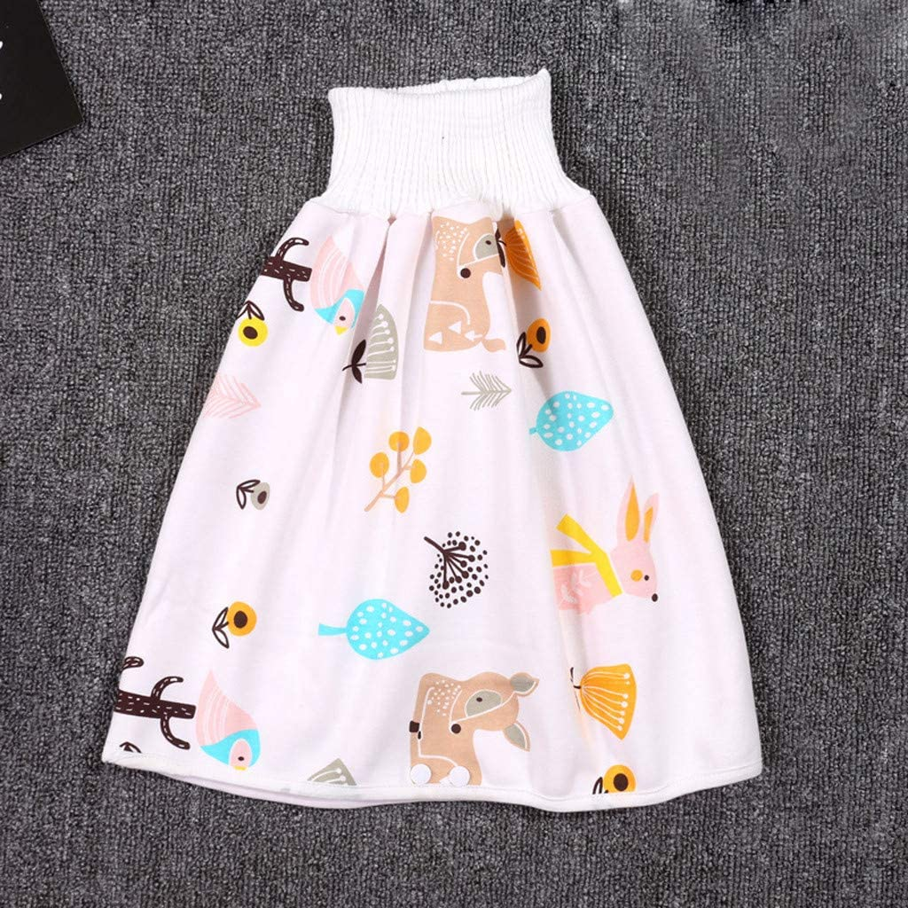 Childrens Nappy Pants Leak Proof Diaper Skirt Shorts Reusable Absorbent Shorts Newborn Training Nappy 0-8 Years