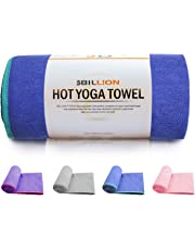 "5BILLION Microfiber Yoga Towel for Yoga Mat - 72"" X 24"" - Hot Yoga Towel, Bikram Yoga Towel, Ashtanga Yoga Towel - Non Slip, Super Absorbent, Machine Washable, Fast Drying - Free Carry Bag"