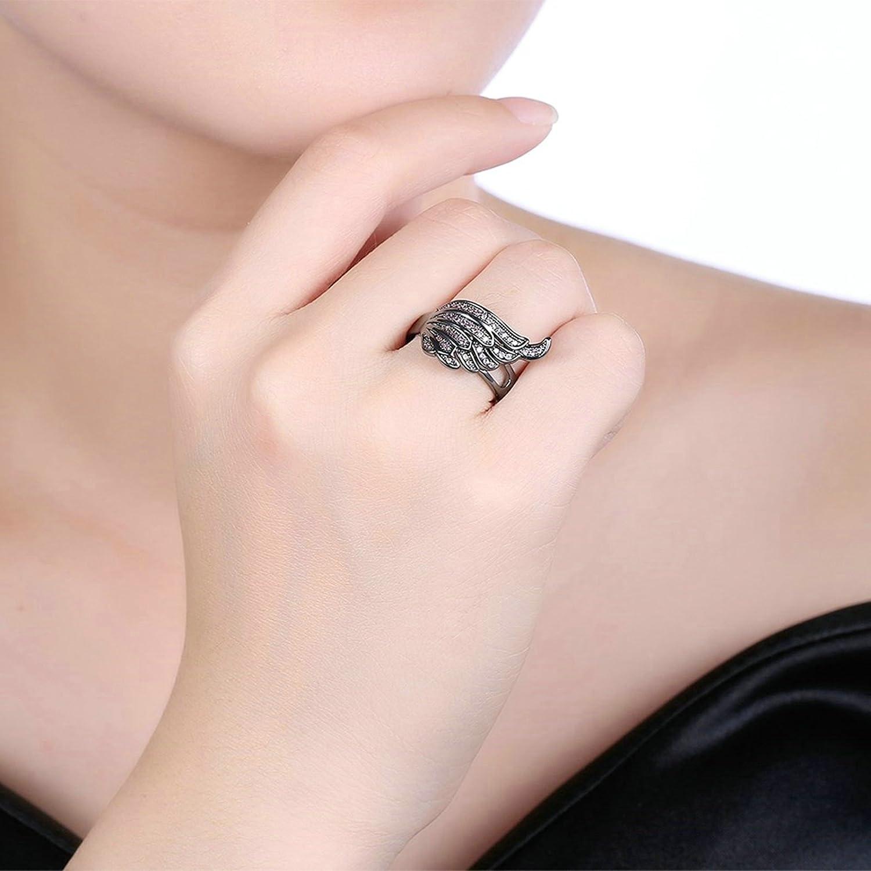 Amazon.com: Epinki Gold Plated Women Ring Wing Cubic Zirconia Ladies ...