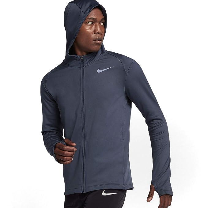 70e7cb495453d Amazon.com: Nike Men's Therma Full Zip Running Hooded Jacket ...