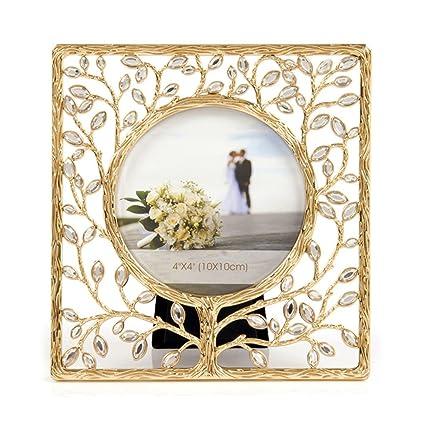 Amazon.com - PLDDY- Modern Style, Gold, Rhinestone, Frames, Luxury ...