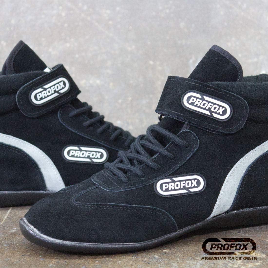PROFOX Car Auto Racing Shoes Boots Black SFI 3.3//5 Black, 4