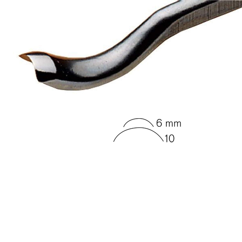 PFEILSwiss Made 6mm # 28 Sweep Back Bent Gouge
