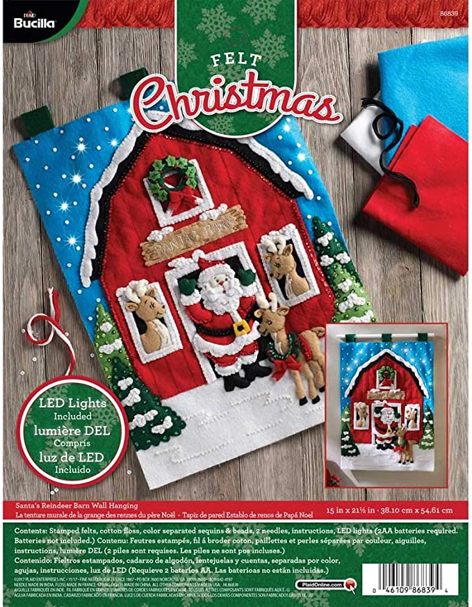 Balloon Bucilla Up Up /& Away ~ 3D Felt Hanging Decor Kit #86153 Santa Frosty