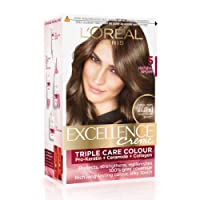 L'Oreal Paris Excellence Creme Hair Color, 5 Natural Brown (72ml+100g)