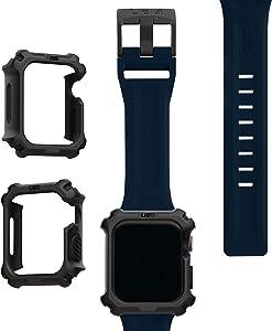 UAG Apple Watch Band 44mm 42mm, iWatch Series 6/5/4/Watch SE Replacement Strap, Scout Mallard + Apple Watch Case 44mm, iWatch Series 6/5/4/Watch SE Protective Bumper Case, Black/Black